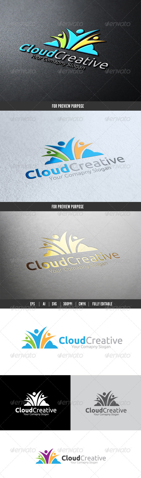 Cloud Creative - Humans Logo Templates