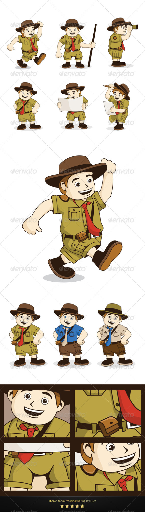 6 Vectors Character - People Characters