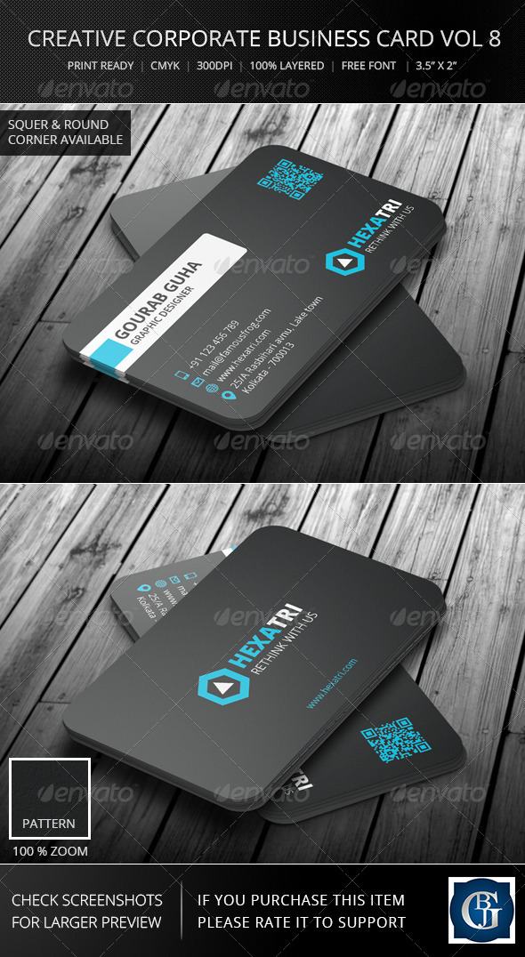 Creative Corporate Business Card Vol 8 - Corporate Business Cards