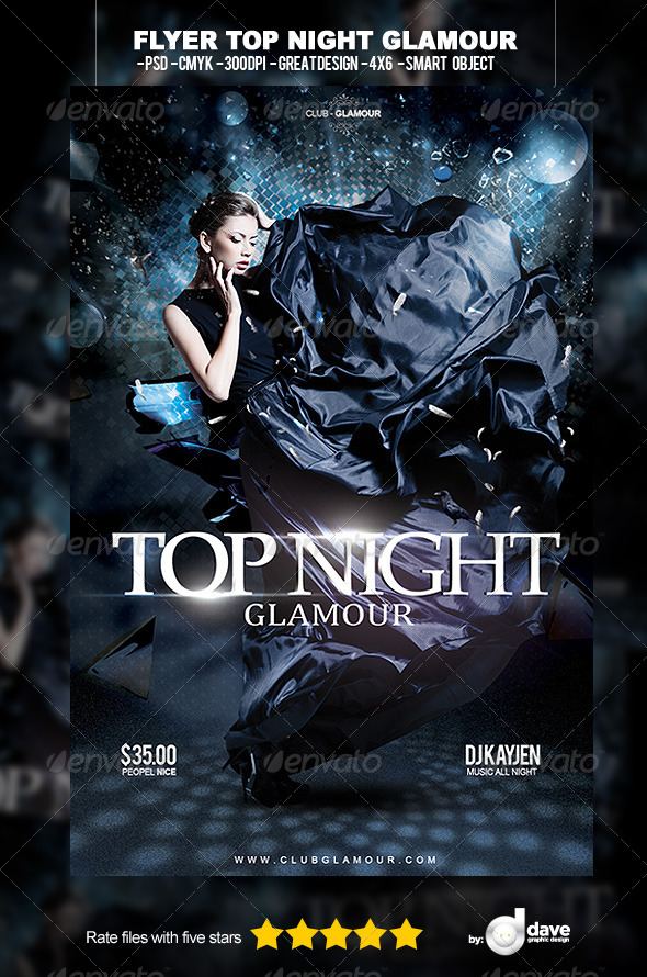 Flyer Top Night Glamour - Events Flyers