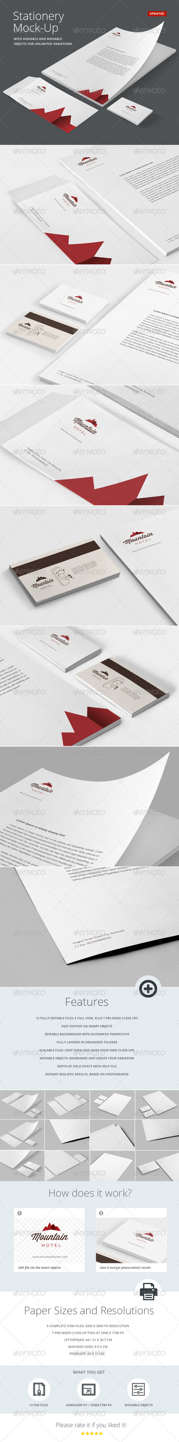 Stationery | Branding Mock-Up - Stationery Print
