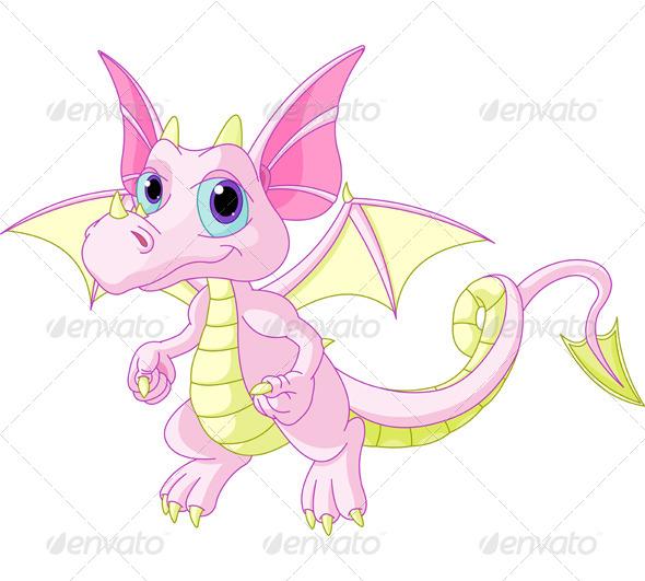 Cartoon Baby Dragon - Animals Characters