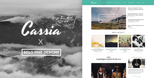 Cassia – A Responsive WordPress Blog Theme