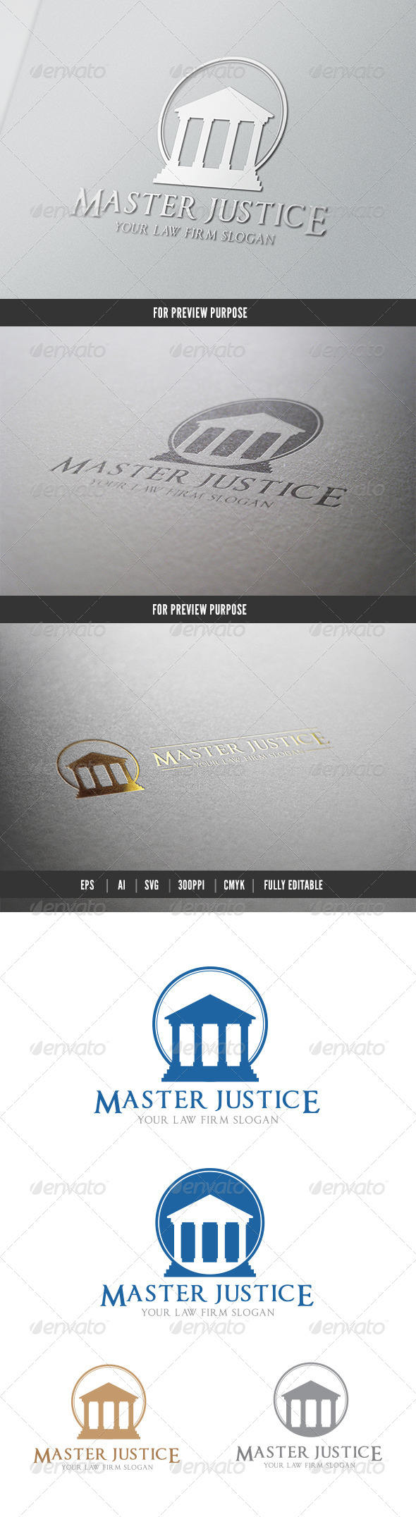 Master Justice - Crests Logo Templates