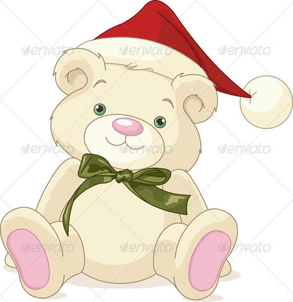 Christmas Teddy Bear - Christmas Seasons/Holidays