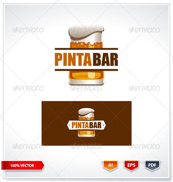 Pinta Bar Logo Template - Logo Templates