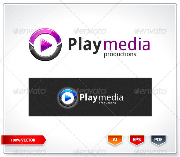 Play Media Logo Template - Logo Templates