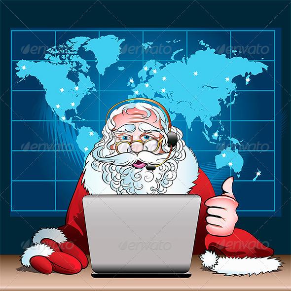 Santa Claus on Duty - Christmas Seasons/Holidays