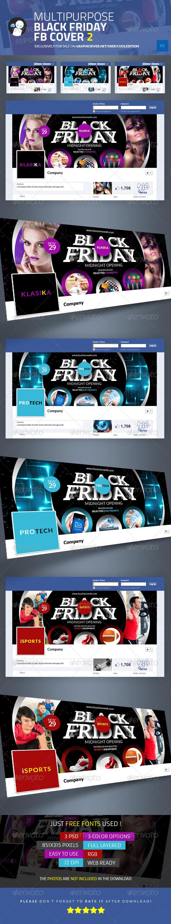 Multipurpose Black Friday Facebook Cover 2 - Facebook Timeline Covers Social Media