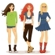 Friendly Girls - GraphicRiver Item for Sale