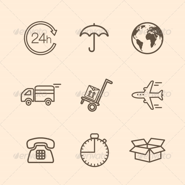 Delivery Icons  - Web Technology