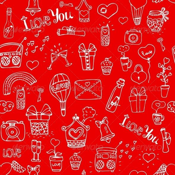 Love Pattern - Backgrounds Decorative