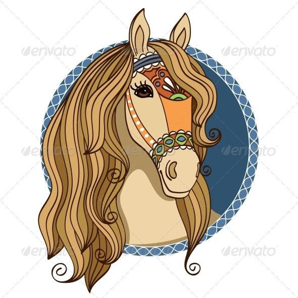 Horse Head - Decorative Symbols Decorative