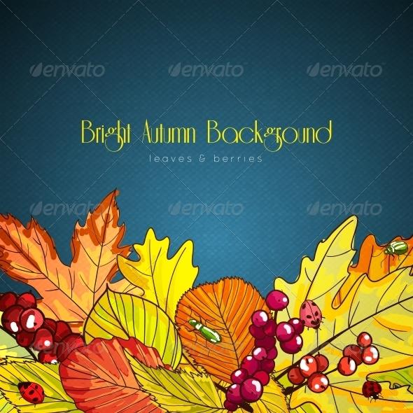 Bright Autumn Background - Seasons Nature