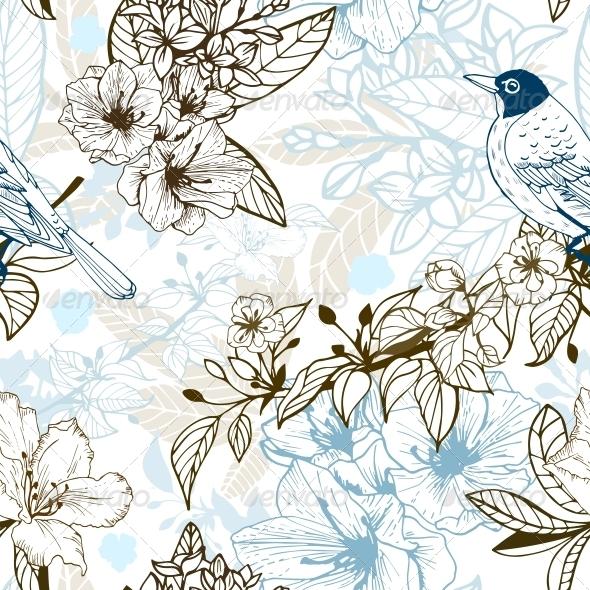 Romantic Seamless - Backgrounds Decorative