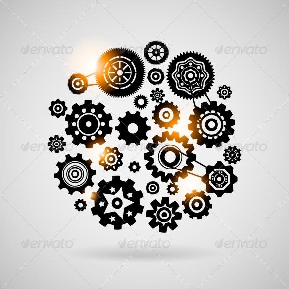 Cogs and Gears - Decorative Symbols Decorative
