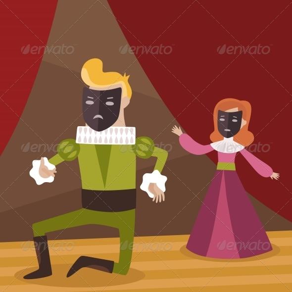 Theatre Scene - People Characters