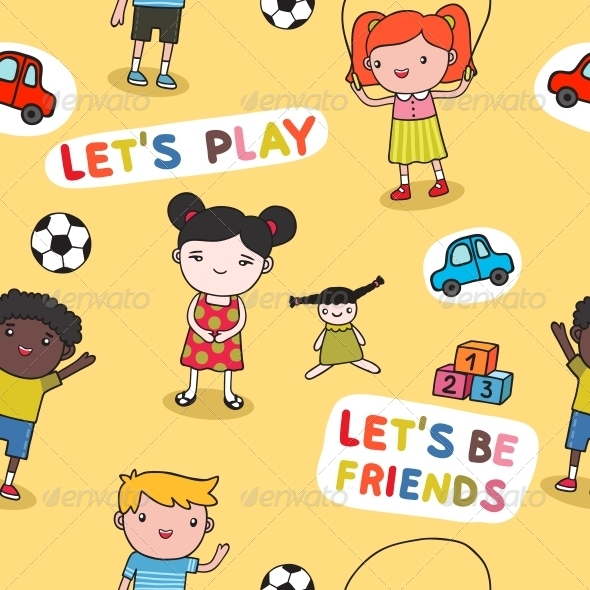 Seamless kids background - Backgrounds Decorative