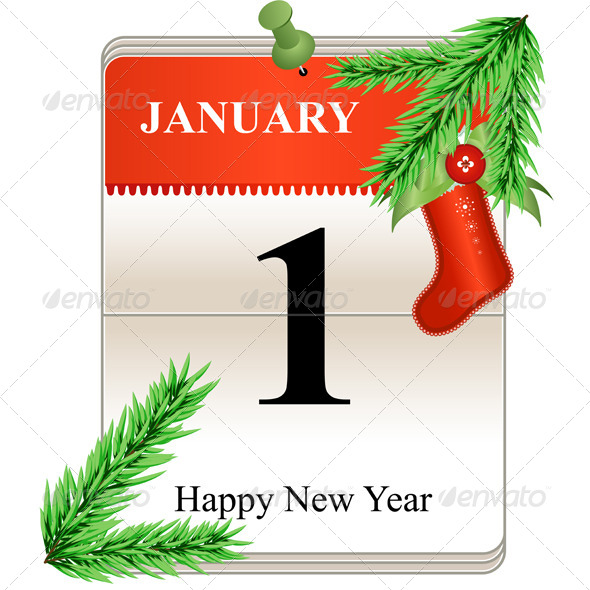 New Year Calendar Date - New Year Seasons/Holidays