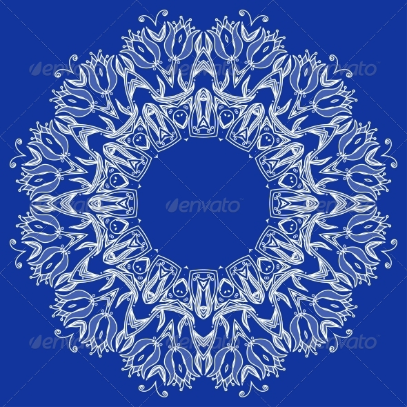 Ornamental Round Lace Pattern - Flowers & Plants Nature