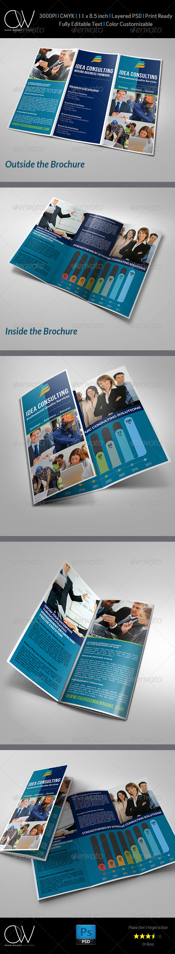 Corporate Business Tri-Fold Brochure Vol.2 - Corporate Brochures