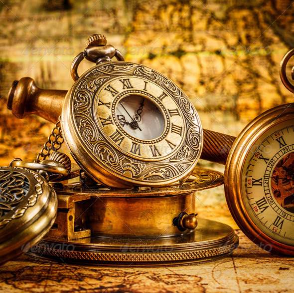Vintage pocket watch - Stock Photo - Images