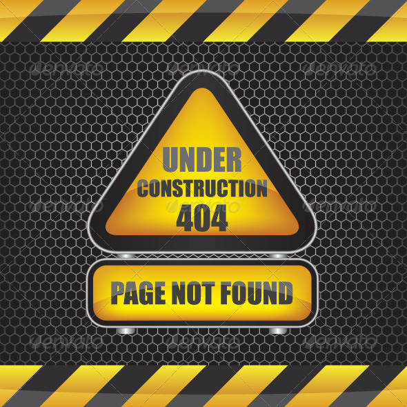 404 Error Under Construction - Web Elements Vectors