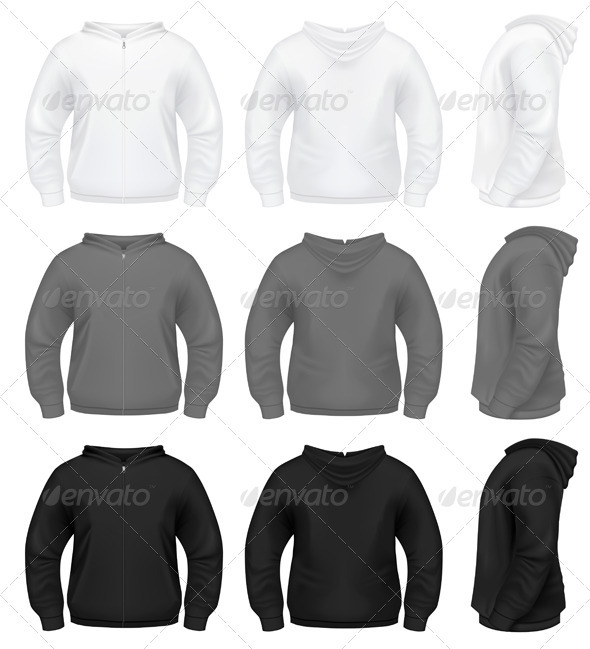 Realistic Men's Hoodie - Miscellaneous Vectors