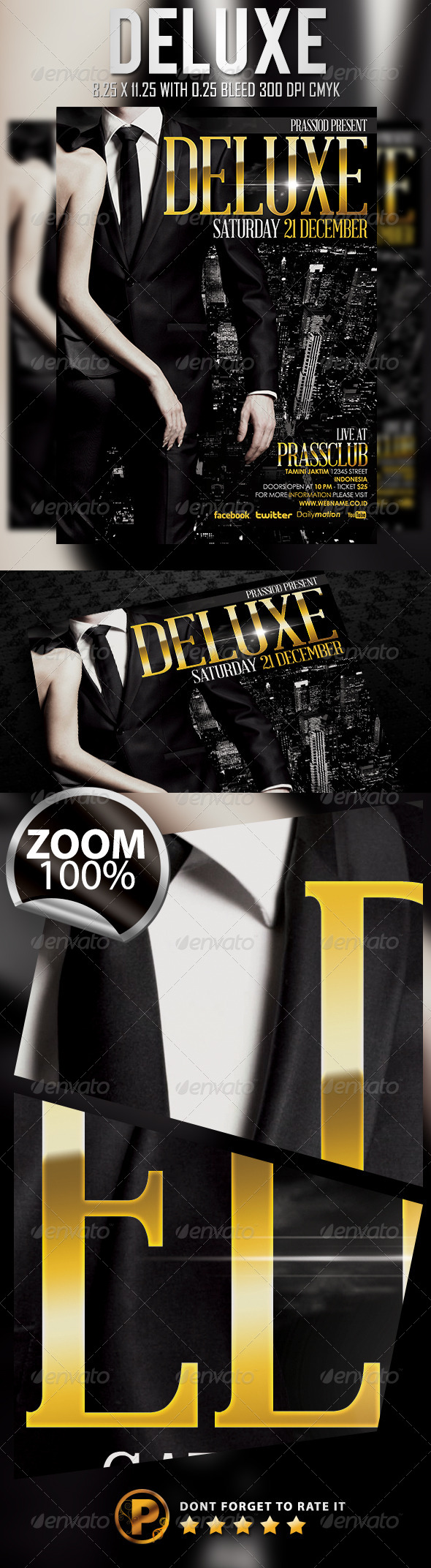 Deluxe Flyer Template - Clubs & Parties Events