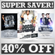 Black and White Party Flyers Super Bundle Vol.2 - GraphicRiver Item for Sale