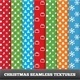 Merry Christmas Vector Seamless Patterns - GraphicRiver Item for Sale