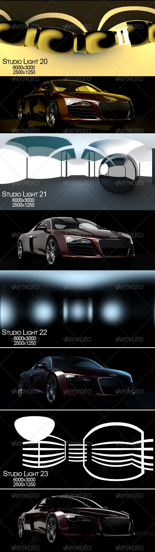 Studio light 6 - 3DOcean Item for Sale