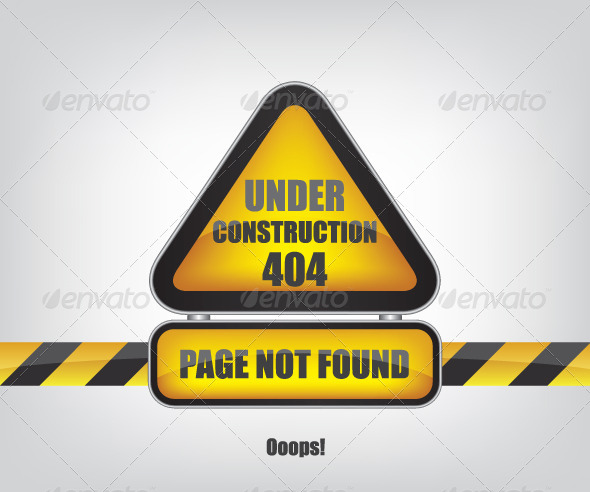 Page not Found Error 404 - Web Elements Vectors