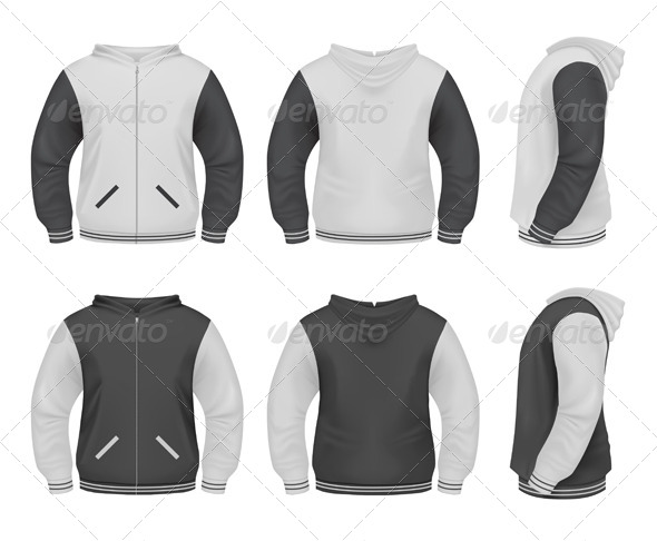 Realistic Men's Sweatshirt - Miscellaneous Vectors