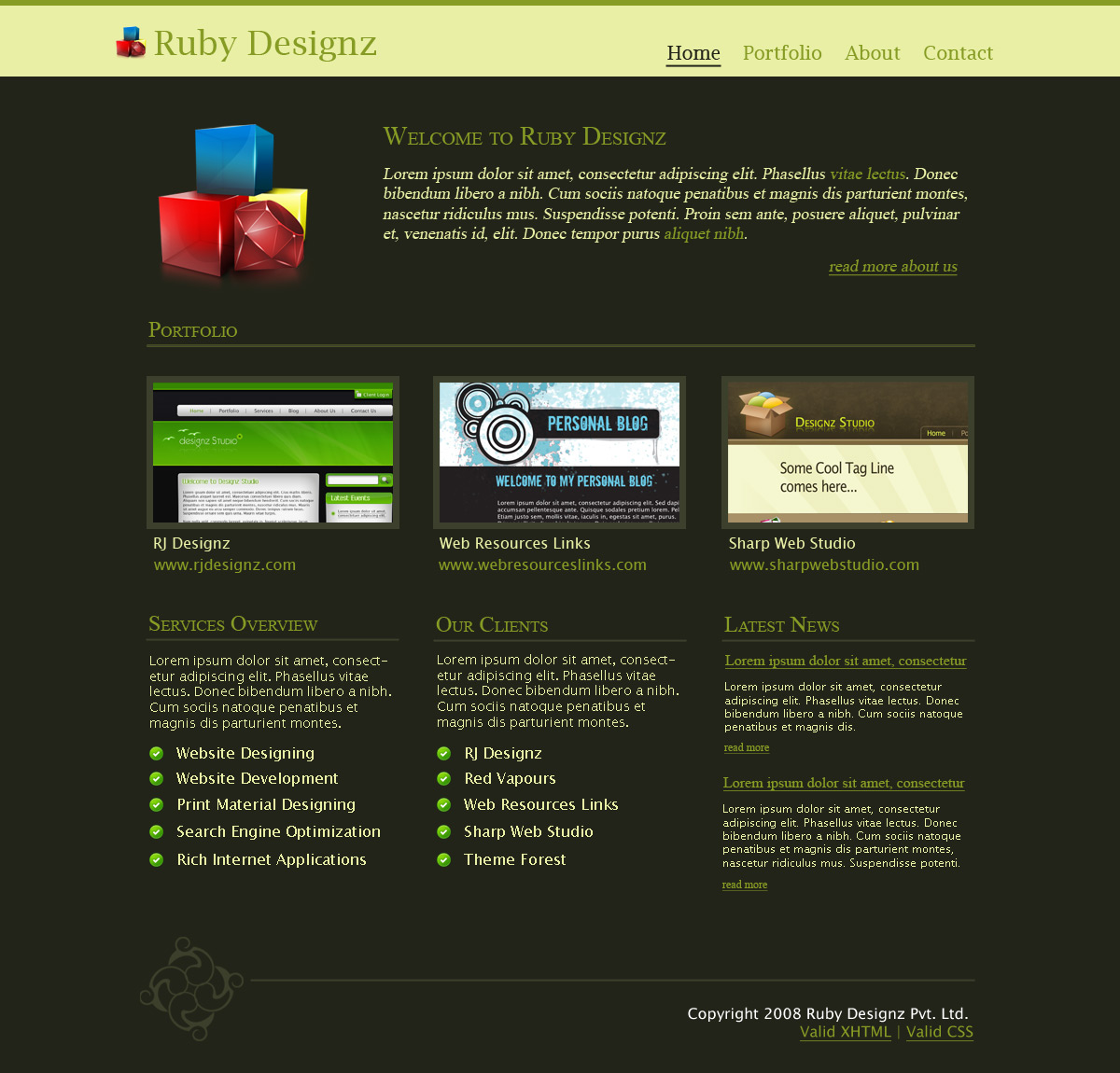 Free Download Ruby Designz Business Template Nulled Latest Version
