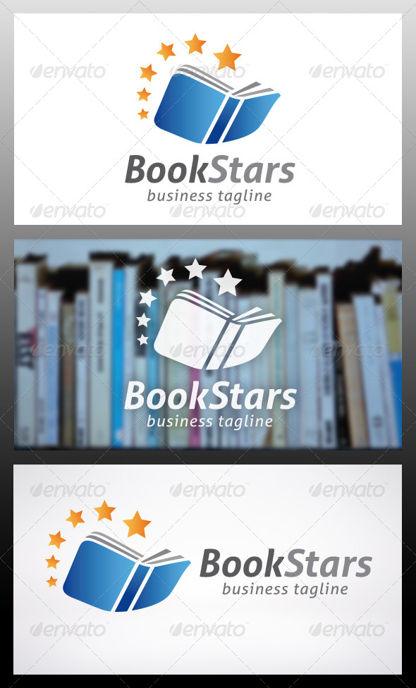 Book Logo Template - Objects Logo Templates