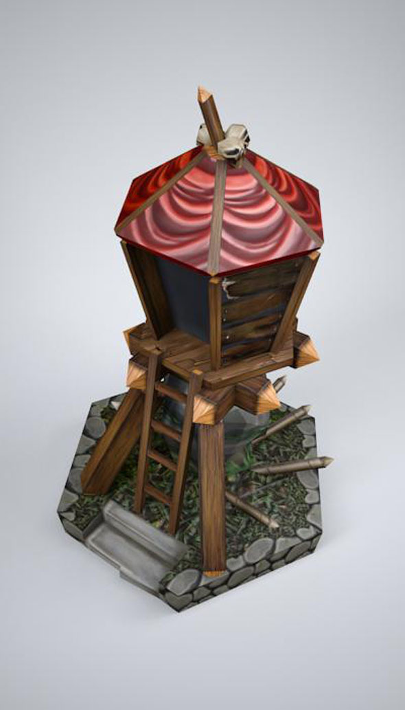 orc tower LOW POLY, mobile, game ready - 3DOcean Item for Sale