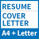 Resume and Cover Letter – A4 and Letter Sizes - GraphicRiver Item for Sale