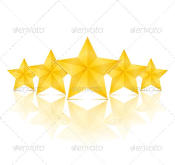 Five Stars - Objects Vectors