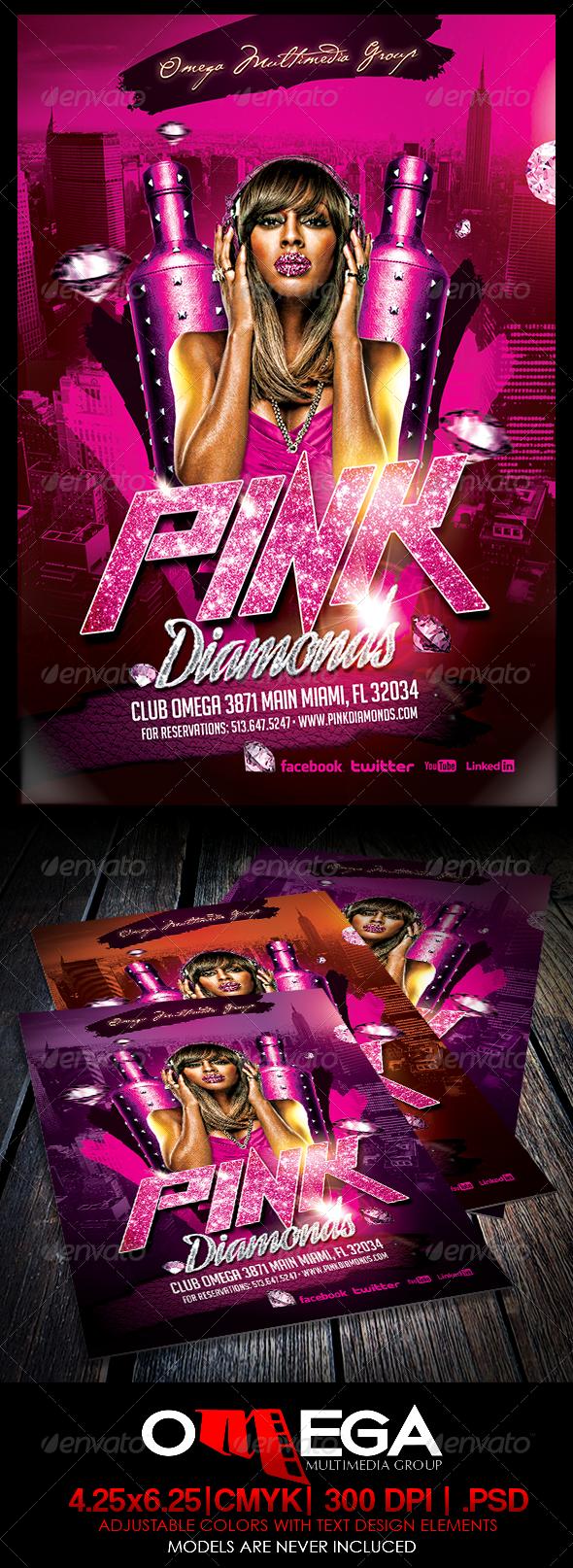 Pink Diamonds - Events Flyers
