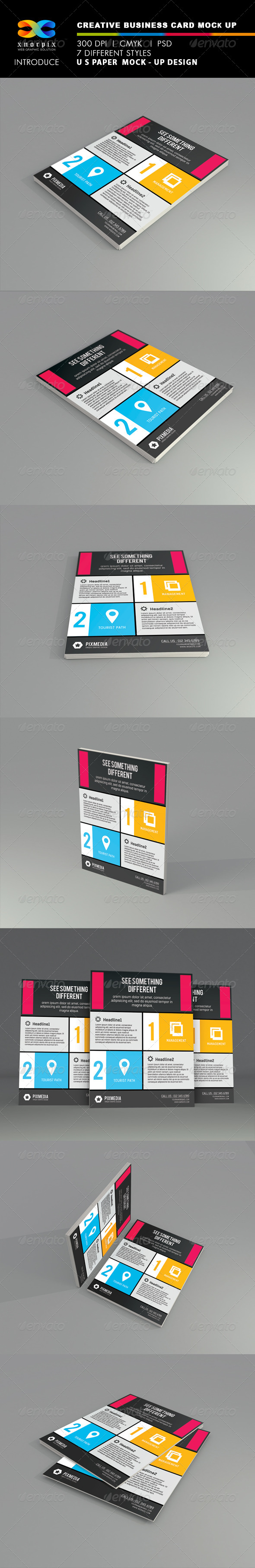 U S Paper Mock-up - Flyers Print