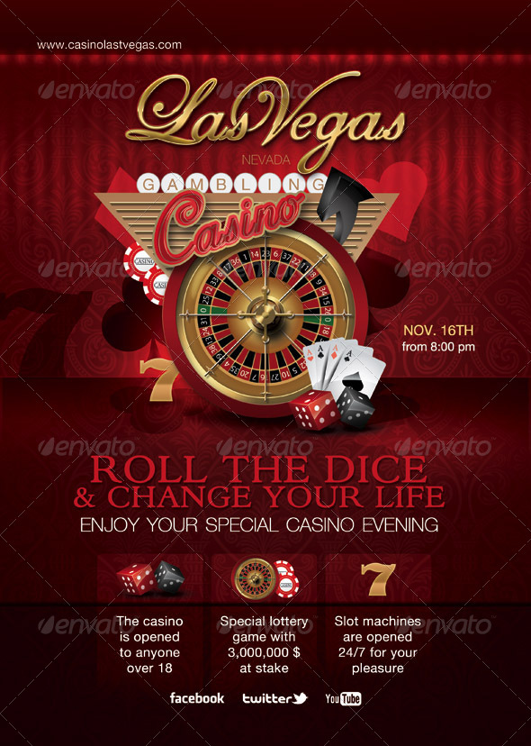 Casino Special Evening Flyer - Clubs & Parties Events
