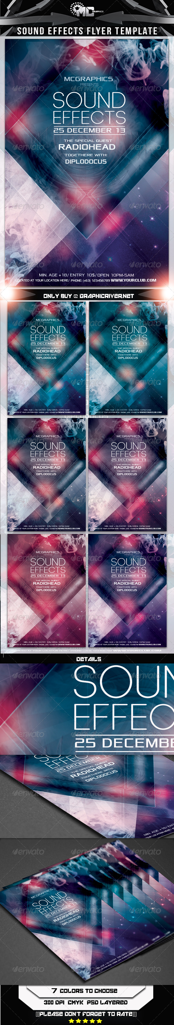 Sound Effects Flyer Template - Flyers Print Templates