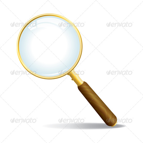 Vector Magnifying Glass - Objects Vectors