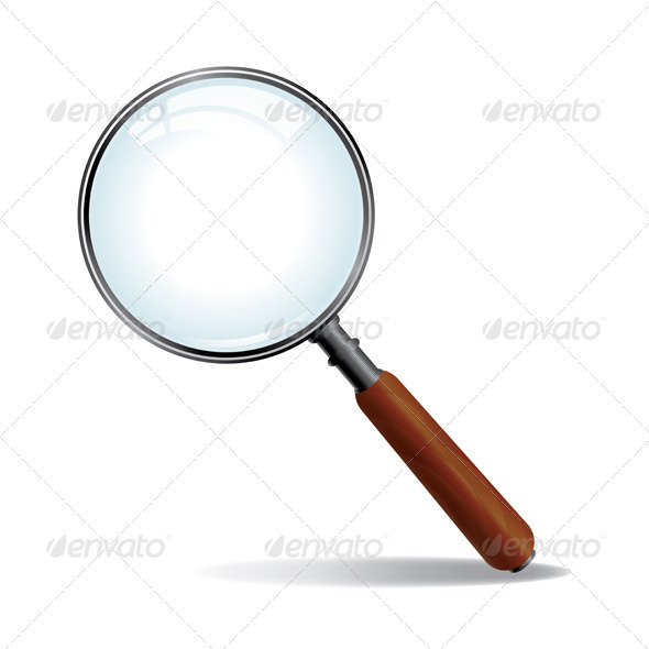 Vector Magnifying Glass - Man-made Objects Objects