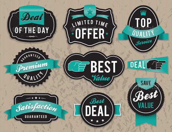 Vector Retro Business Labels and Badges - Miscellaneous Vectors
