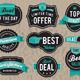 Vector Retro Business Labels and Badges - GraphicRiver Item for Sale