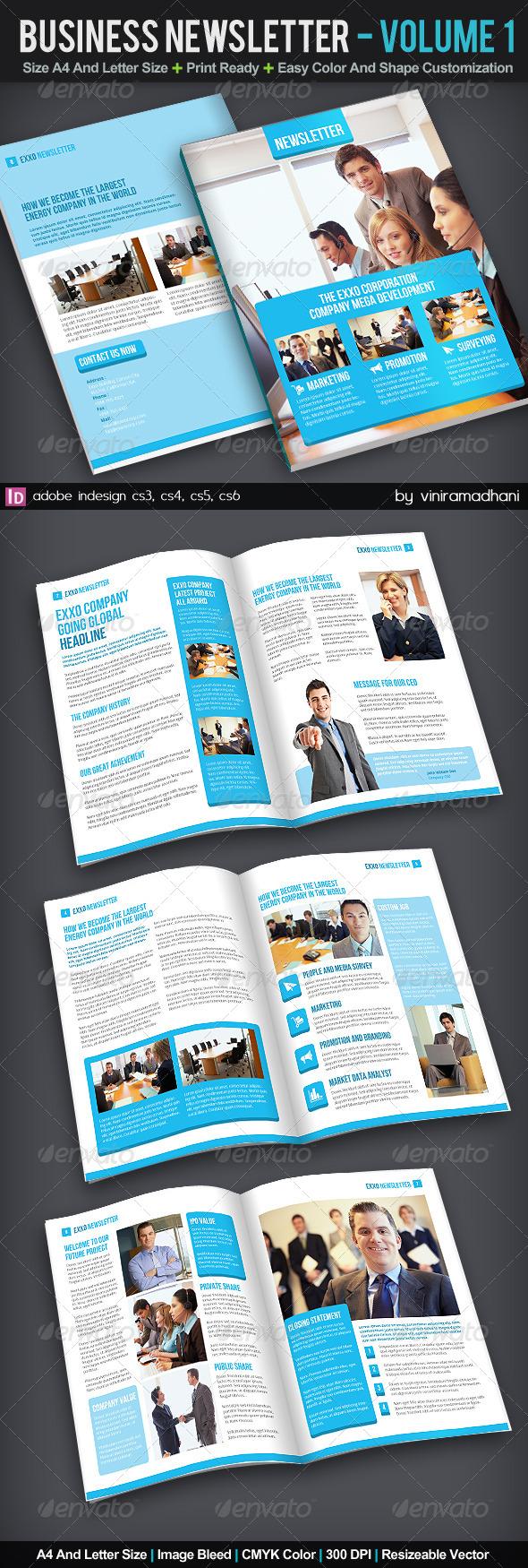 Business Newsletter | Volume 1 - Newsletters Print Templates