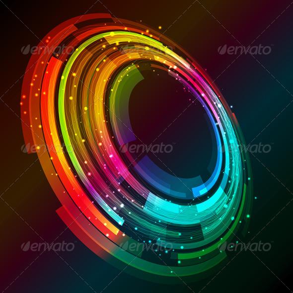 Abstract circular design - Backgrounds Decorative