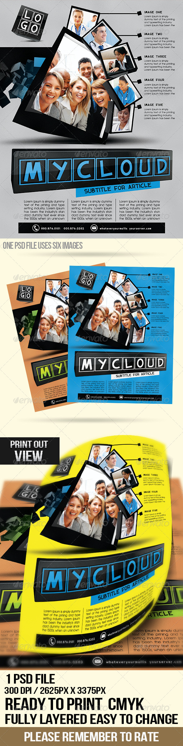 Clean Cubes Pt.2 Multipurpose Flyer - Flyers Print Templates